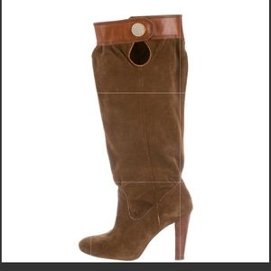 Michael Kors Sloucy Brown Suede Boots